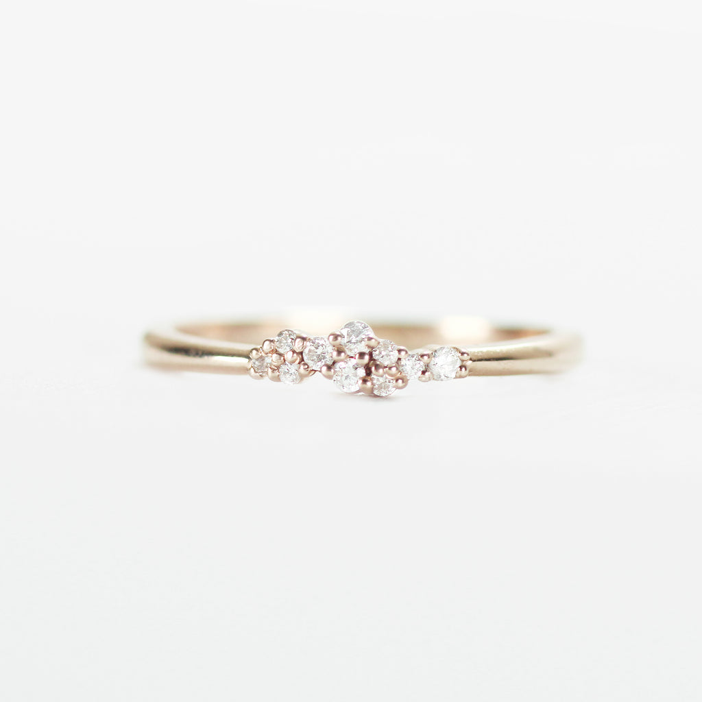Fiona - Cluster style diamond band