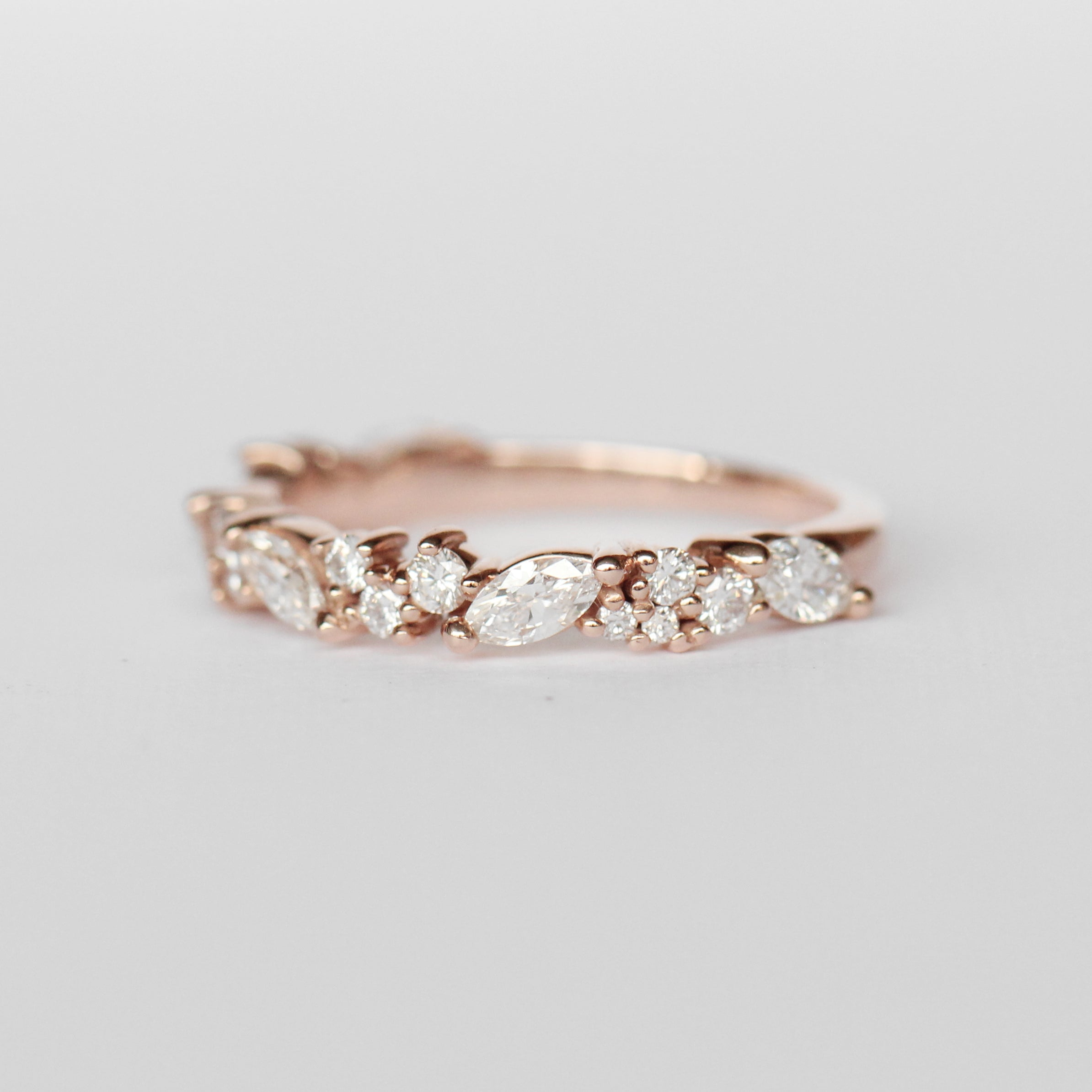Genevieve Diamond Engagement Ring Band - White diamonds - Midwinter Co. Alternative Bridal Rings and Modern Fine Jewelry