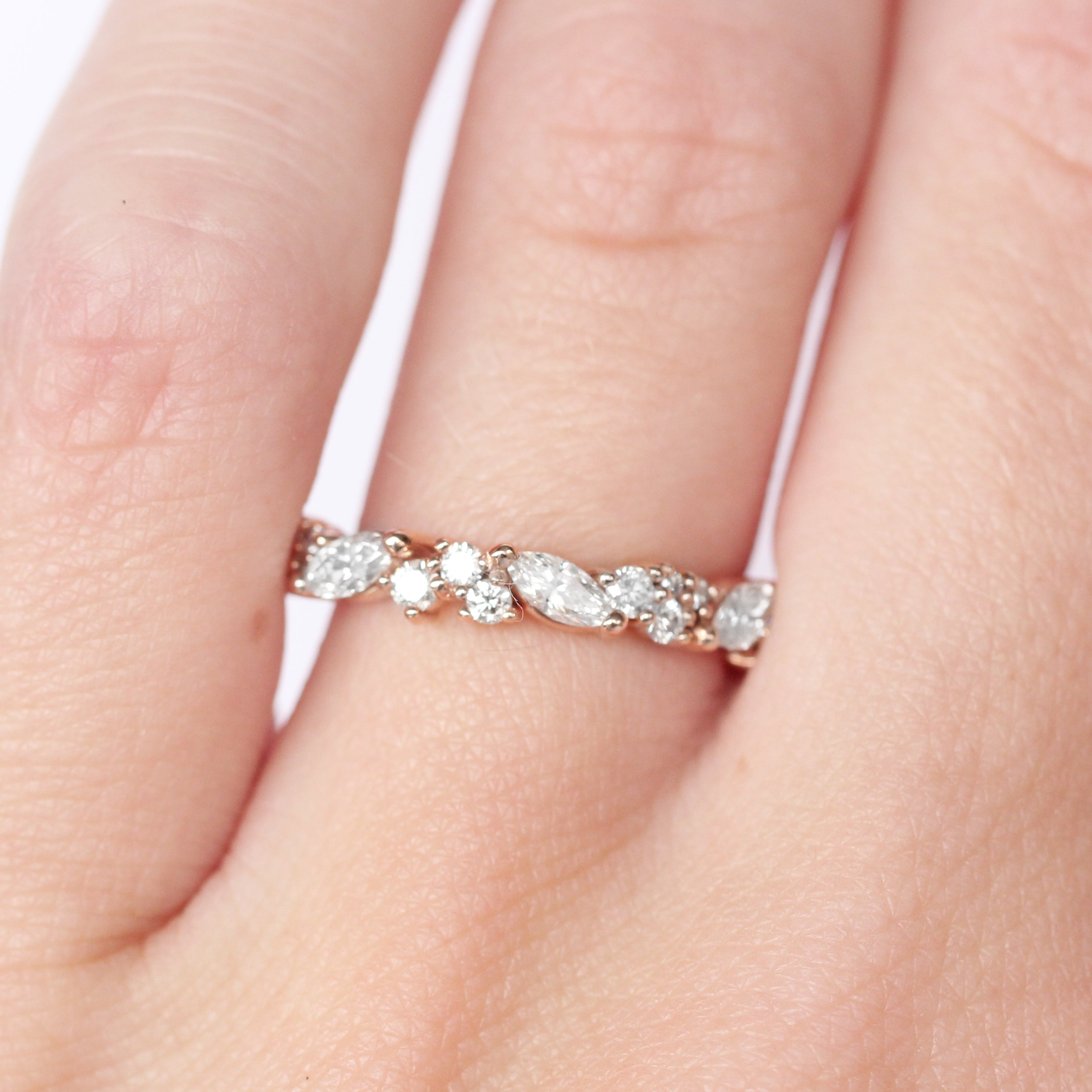 Genevieve Diamond Engagement Ring Band - White diamonds - Celestial Diamonds ® by Midwinter Co.