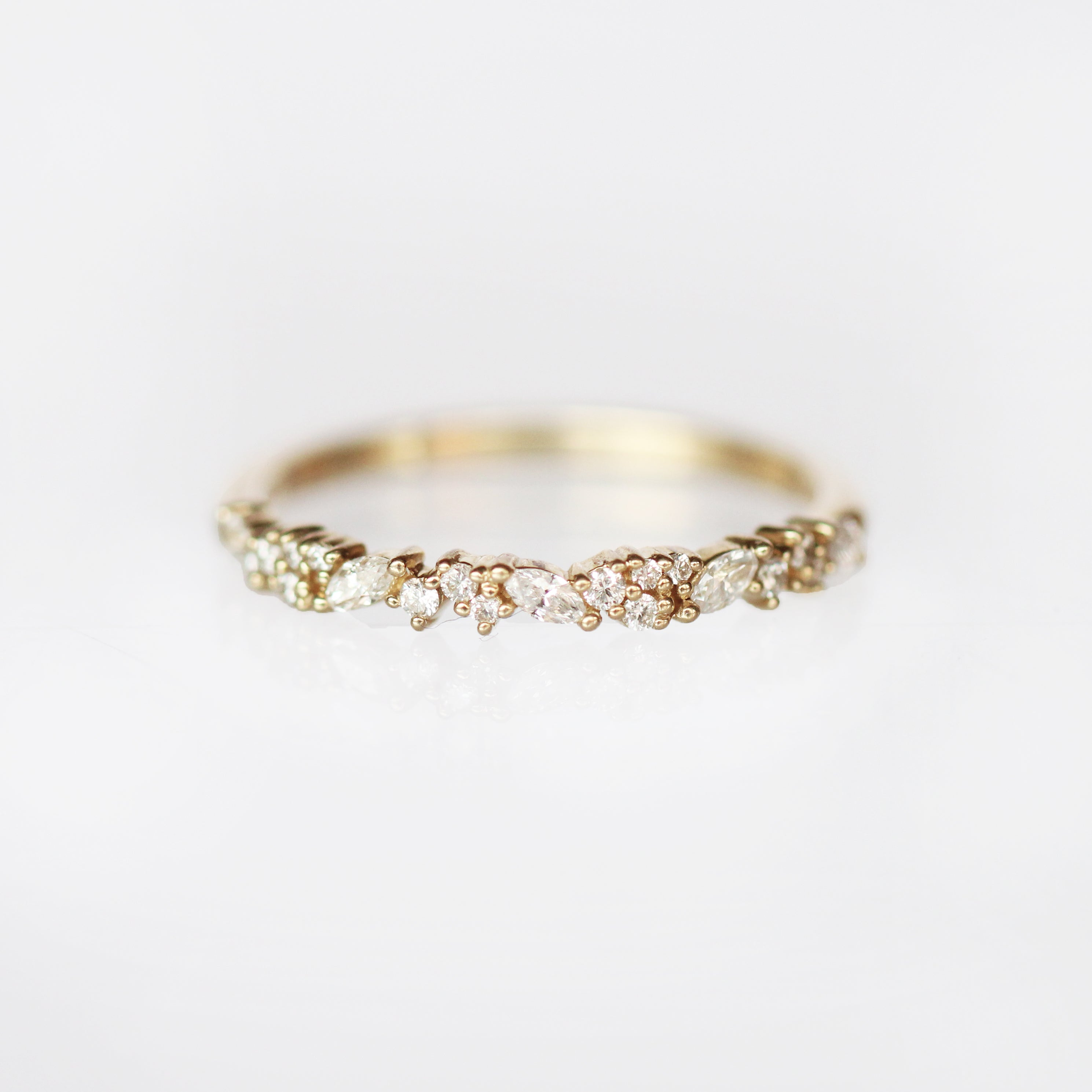 Gennie Diamond Engagement Ring Band - White diamonds - Celestial Diamonds ® by Midwinter Co.