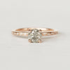 Heath Ring with an .80 ct Celestial Diamond in 14k Rose Gold - Ready to Size and Ship - Celestial Diamonds ® by Midwinter Co.
