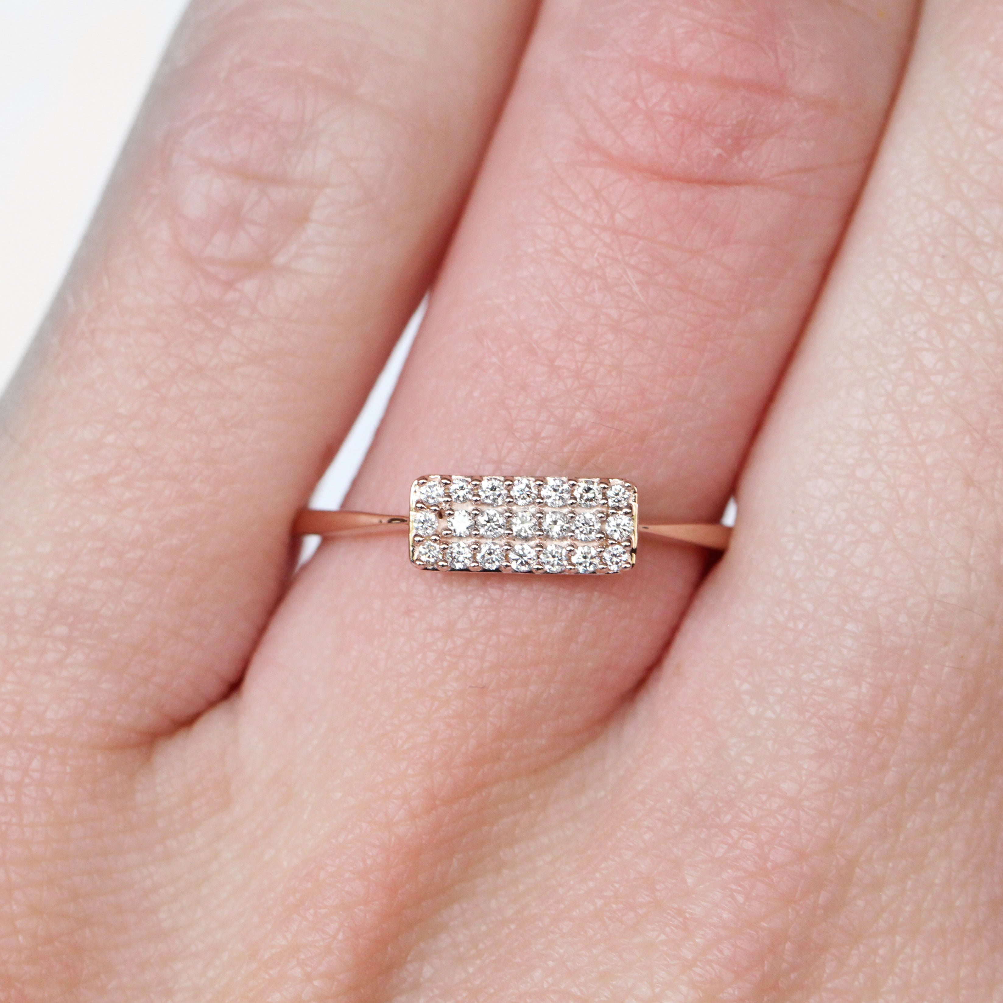 Heather Stacking Diamond Ring in Your Choice of 14k Gold - Made to Order - Celestial Diamonds ® by Midwinter Co.