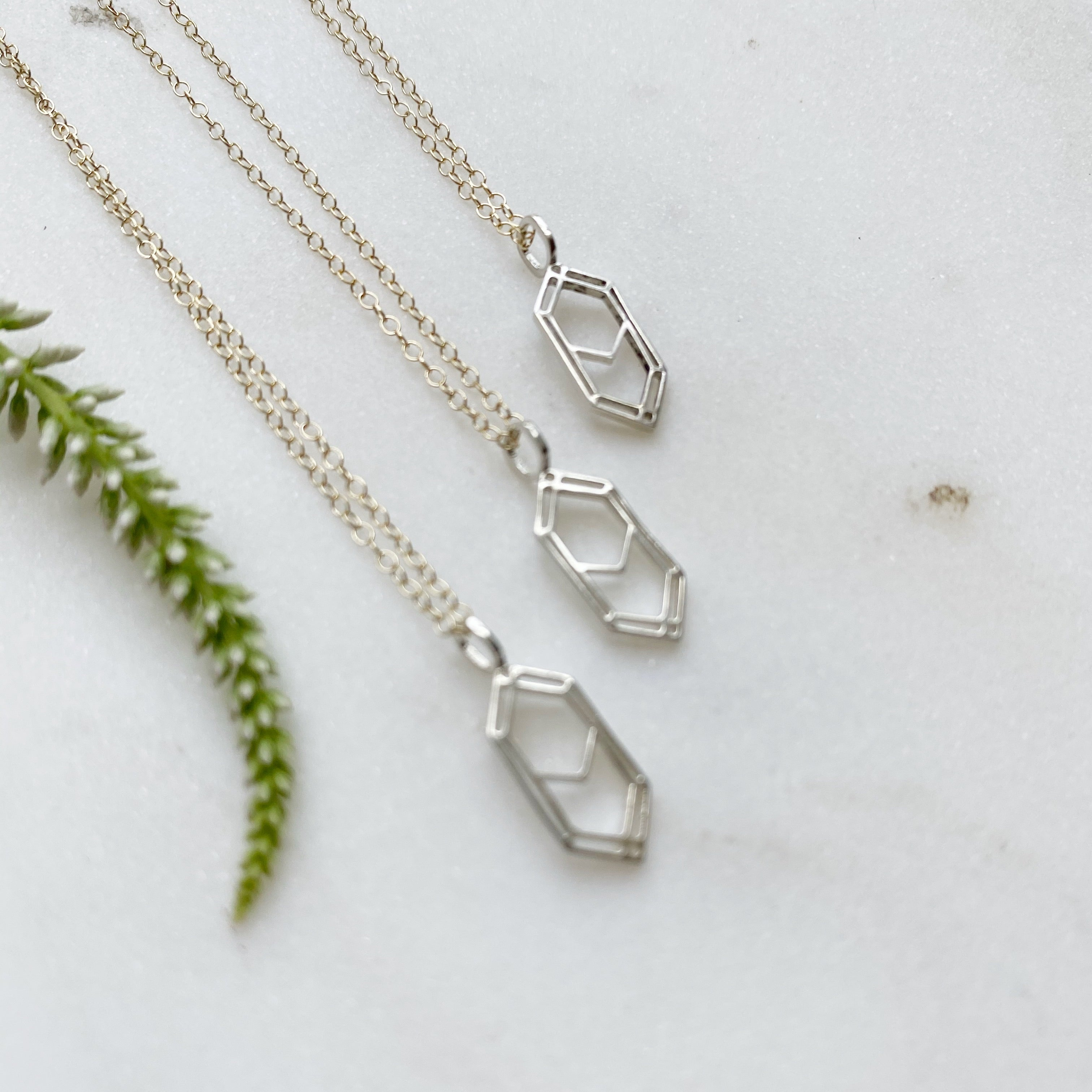 Midwinter Co logo necklace - Salt & Pepper Celestial Diamond Engagement Rings and Wedding Bands  by Midwinter Co.