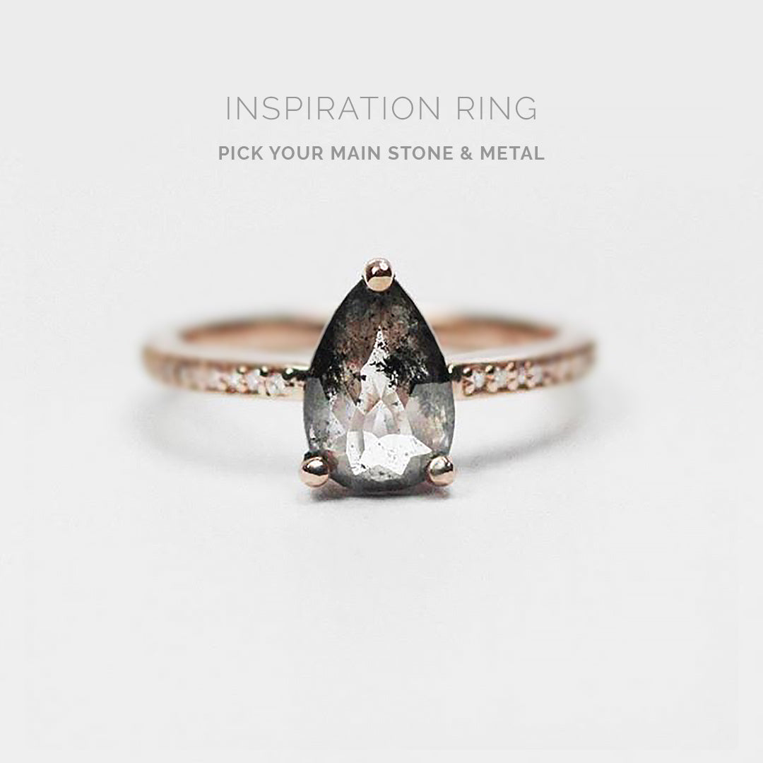 Inspiration Ring - Imani ring with your center stone + metal - Celestial Diamonds ® by Midwinter Co.