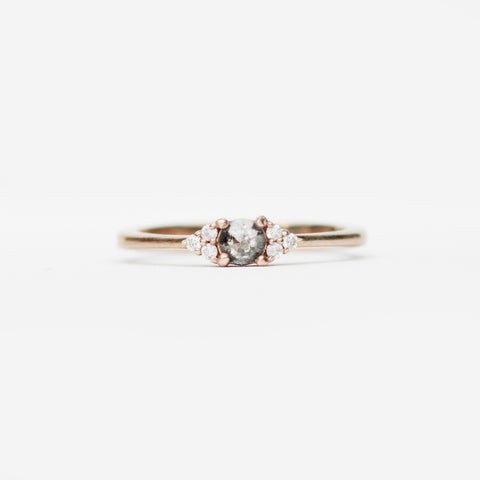 Imogene - Dark Rose Cut Diamond -  Choice of gold Imogene Diamond Band