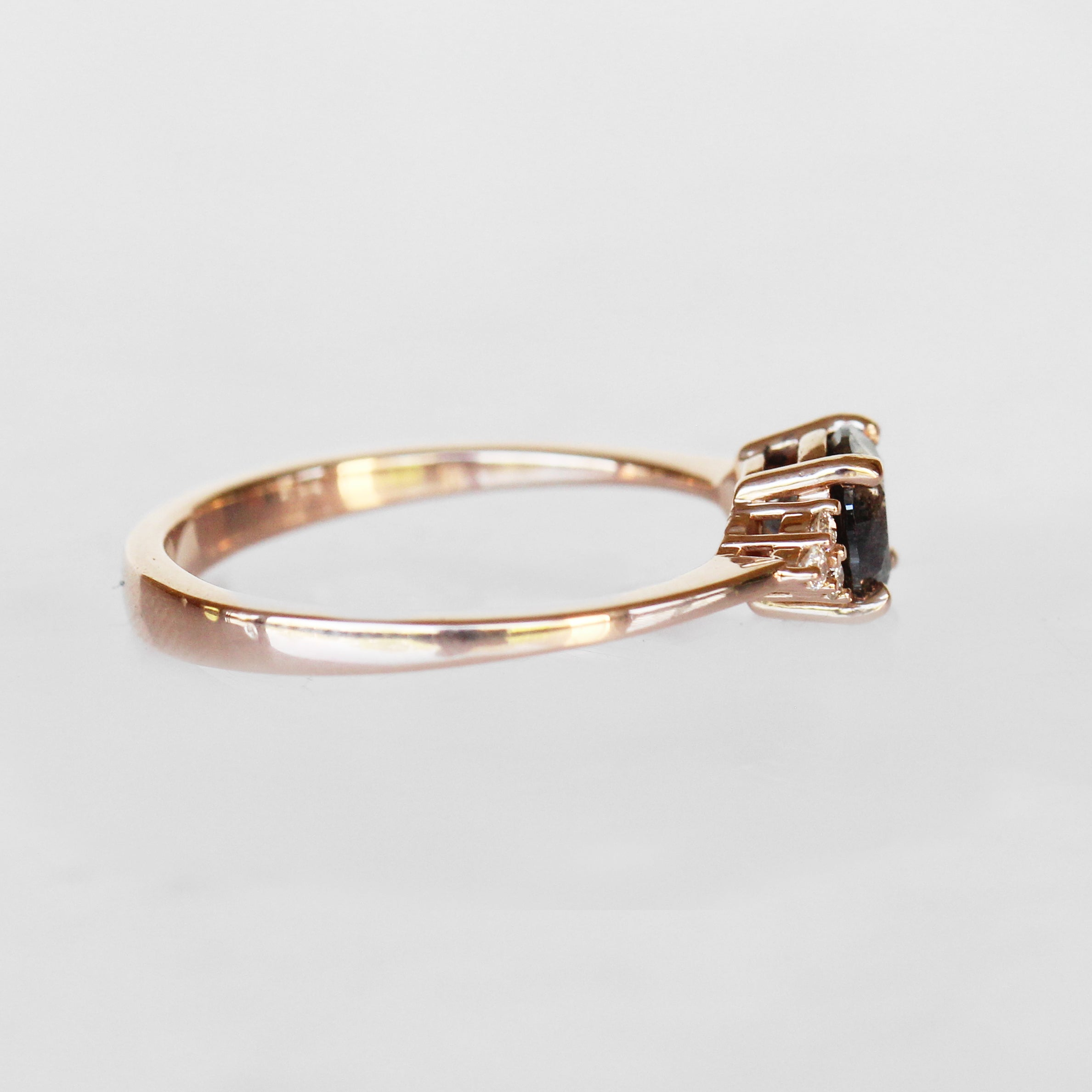 Imogene Ring with a Celestial Diamond ® in 14k Rose Gold - Ready to Size and Ship