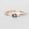 Imogene - Dark Rose Cut Diamond -  Choice of gold Imogene Diamond Band - Celestial Diamonds ® by Midwinter Co.