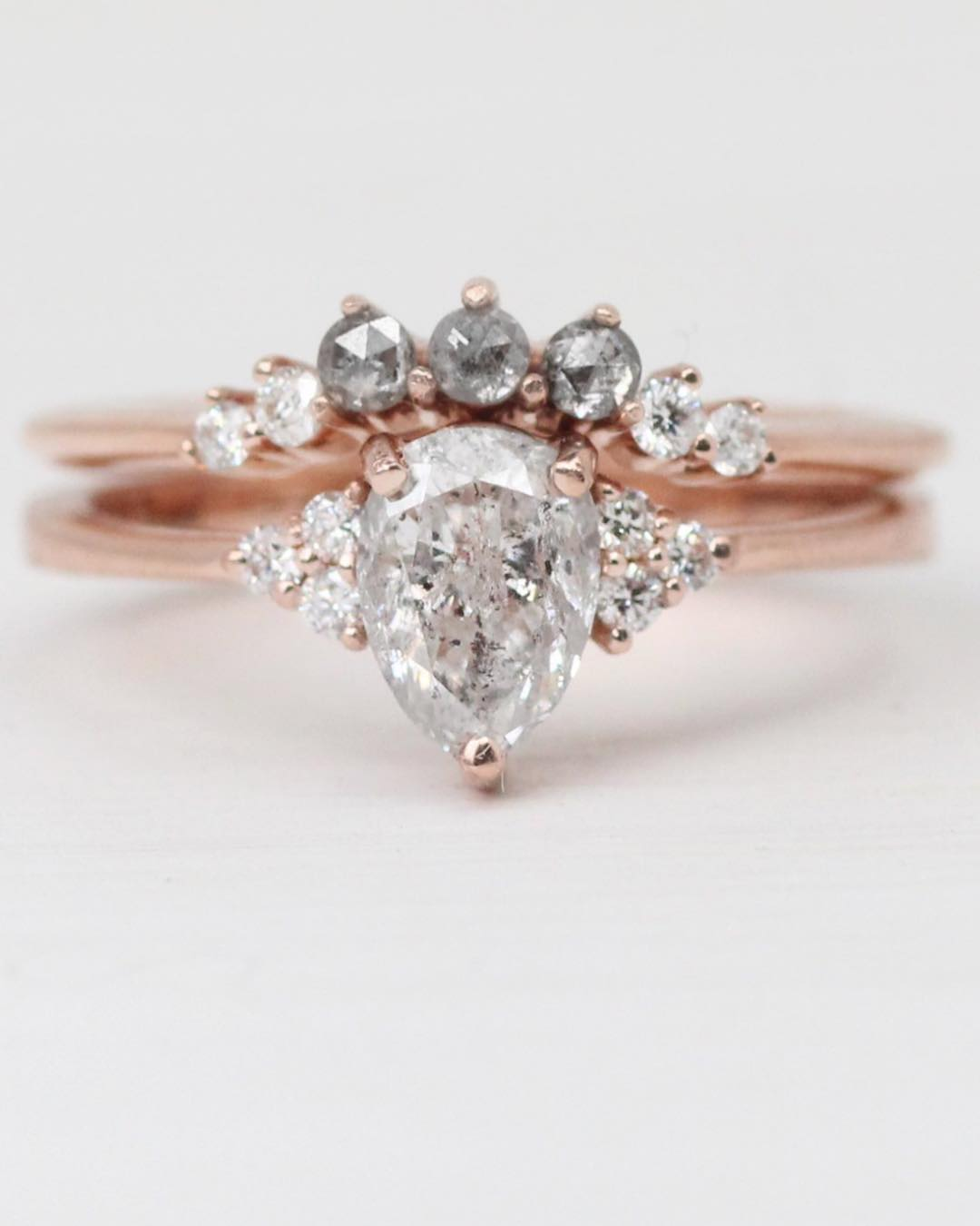 Inspiration ring - Imogene setting with your choice center diamond + side stones + metal - Celestial Diamonds ® by Midwinter Co.