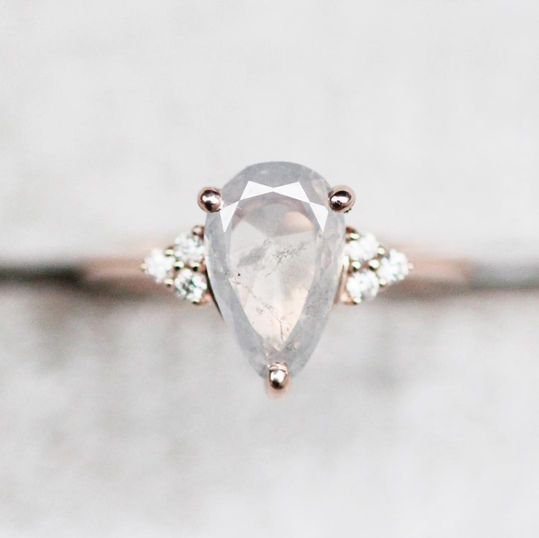 Inspiration ring - Imogene setting with your choice center diamond + side stones + metal - Midwinter Co. Alternative Bridal Rings and Modern Fine Jewelry
