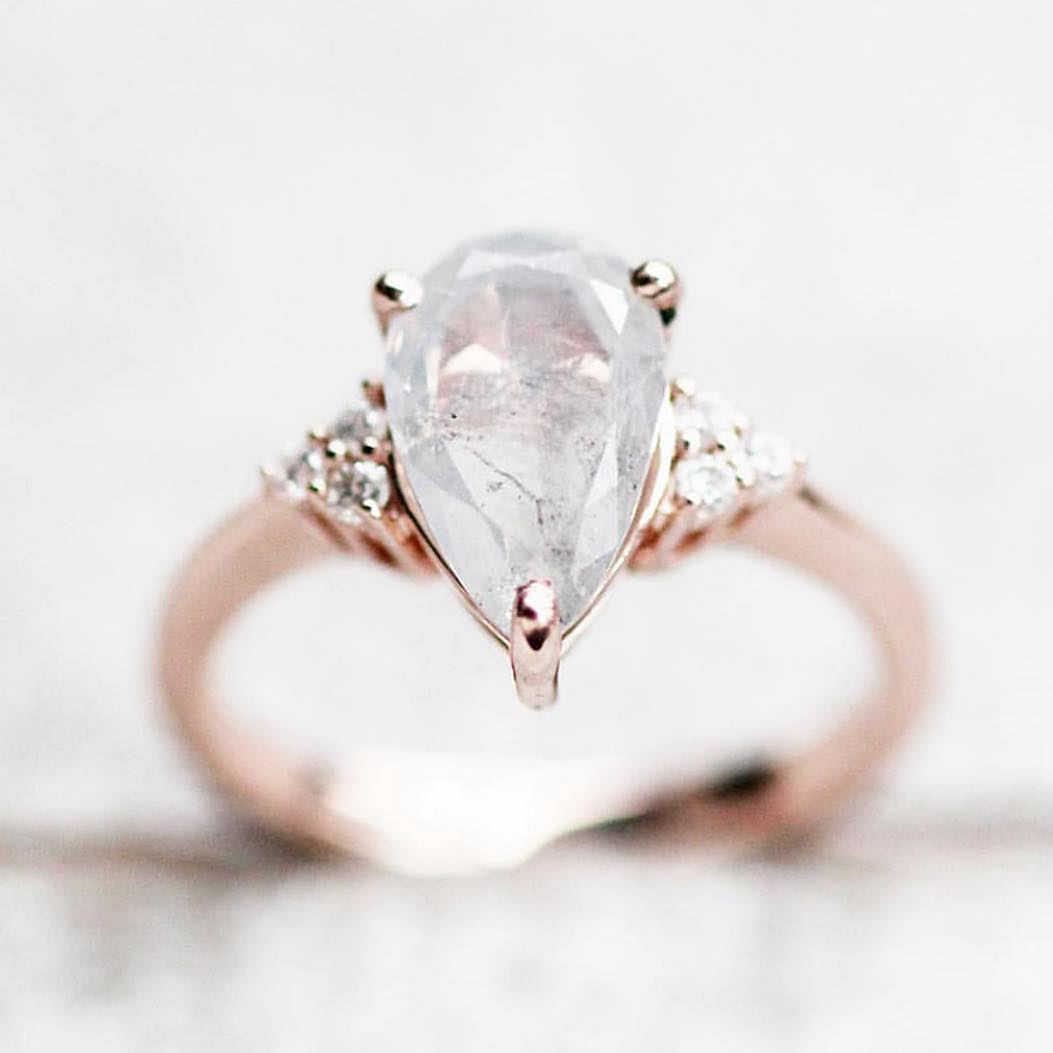 Inspiration ring - Imogene setting with your choice center diamond + side stones + metal - Salt & Pepper Celestial Diamond Engagement Rings and Wedding Bands  by Midwinter Co.