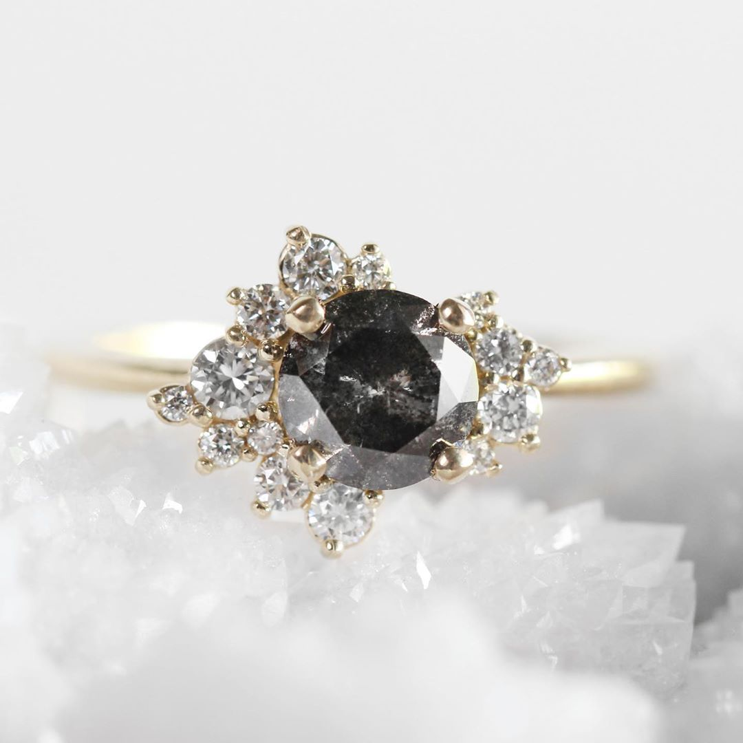 Inspiration ring - Orion Custom Ring with Diamonds & Metal of your choice - Salt & Pepper Celestial Diamond Engagement Rings and Wedding Bands  by Midwinter Co.