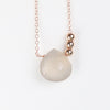 Champagne Gray Moonstone Pendant and Metal Bead necklace - Celestial Diamonds ® by Midwinter Co.