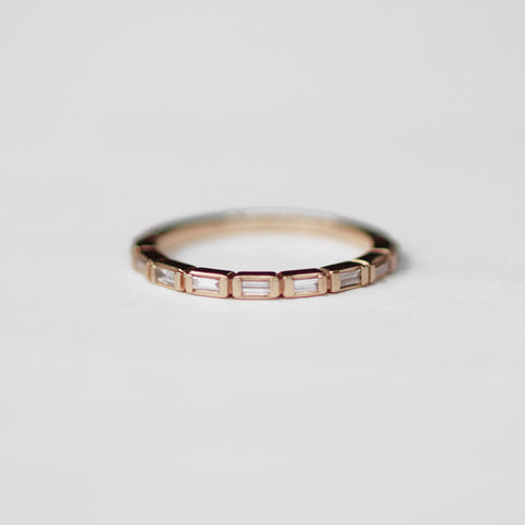 Bronte - Baguette diamond band