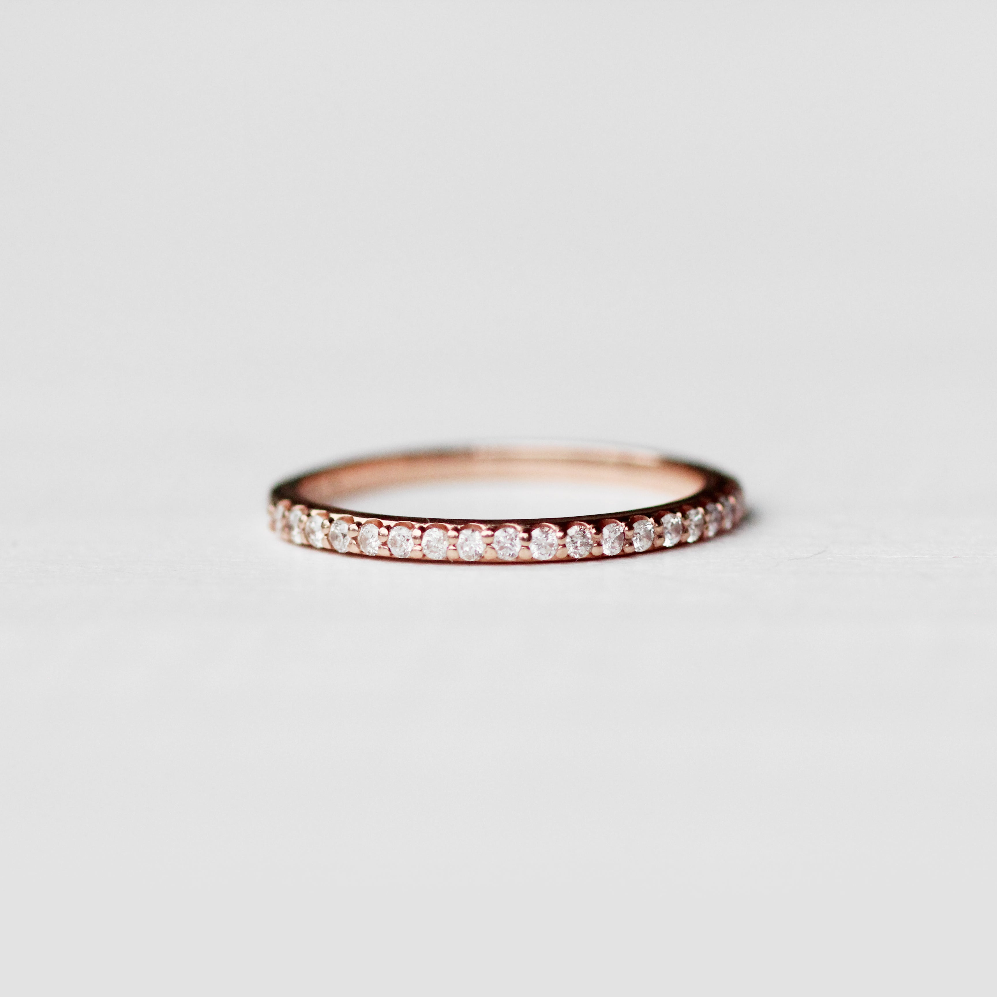 Constance - Pave set, minimal diamond wedding stacking band - Celestial Diamonds ® by Midwinter Co.