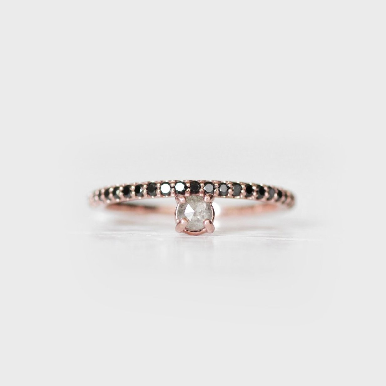 Nellie - Made to order - customizable stacking asymmetrical diamond band wedding ring - Celestial Diamonds ® by Midwinter Co.