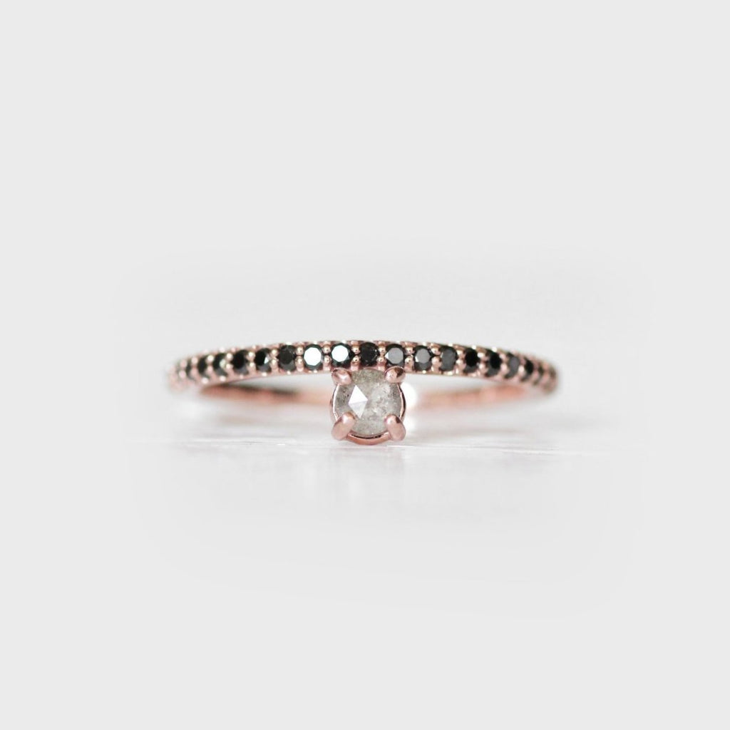 Nellie - Made to order - customizable stacking asymmetrical diamond band wedding ring