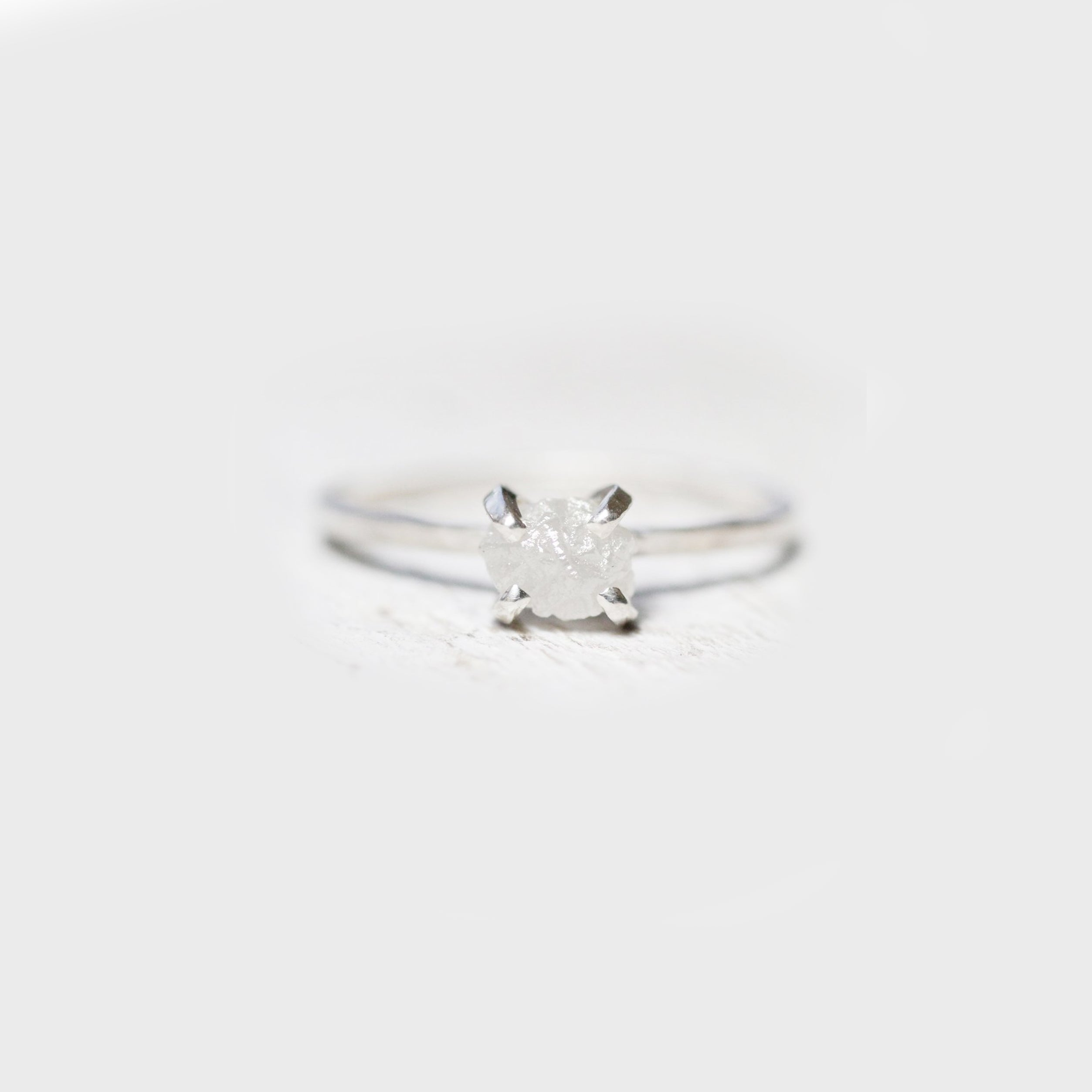 Rough Diamond Solitaire Ring - Gold / Sterling - Ethically Sourced - Celestial Diamonds ® by Midwinter Co.