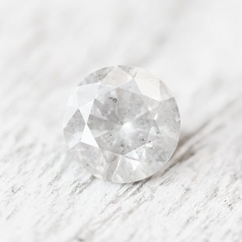 .58ct 5.4mm bright white gray celestial diamond - inventory code WC53