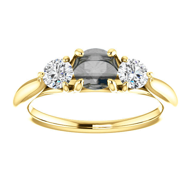 Ruth - Three stone ring setting
