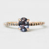 Raine Ring with Purple Spinel and Black Diamond Accents in 10k Rose Gold - Ready to Size and Ship - Celestial Diamonds ® by Midwinter Co.