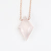 Rose Quartz Pendant Necklace with 14k Rose Gold Fill or Sterling Silver Chain - Celestial Diamonds ® by Midwinter Co.