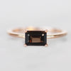 Ruthie Ring with Smokey Quartz in 10k Rose Gold - Ready to Size and Ship - Salt & Pepper Celestial Diamond Engagement Rings and Wedding Bands  by Midwinter Co.