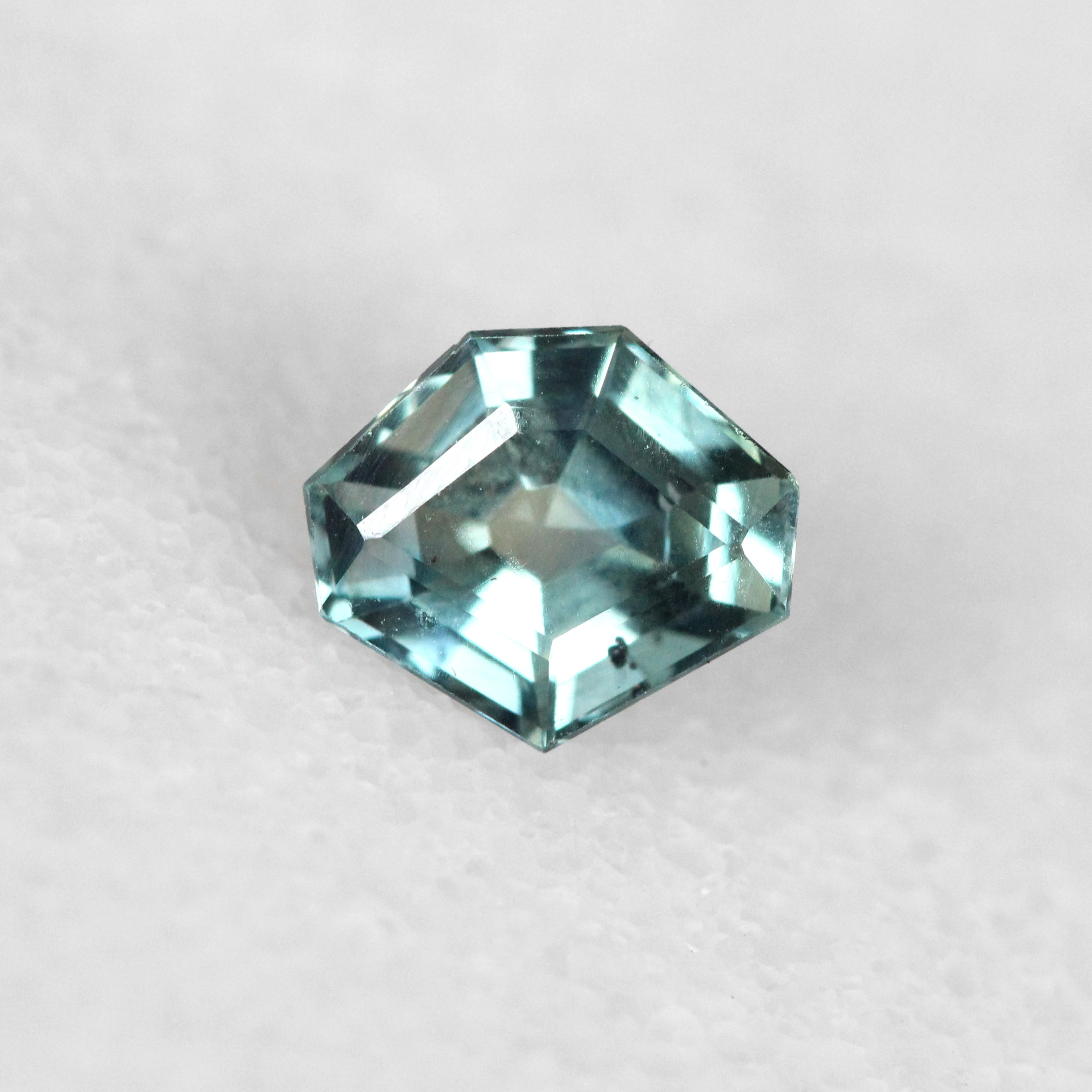 1.25 carat Geometric Shaped Teal Sapphire for Custom Work - Inventory Code SAP125 - Salt & Pepper Celestial Diamond Engagement Rings and Wedding Bands  by Midwinter Co.
