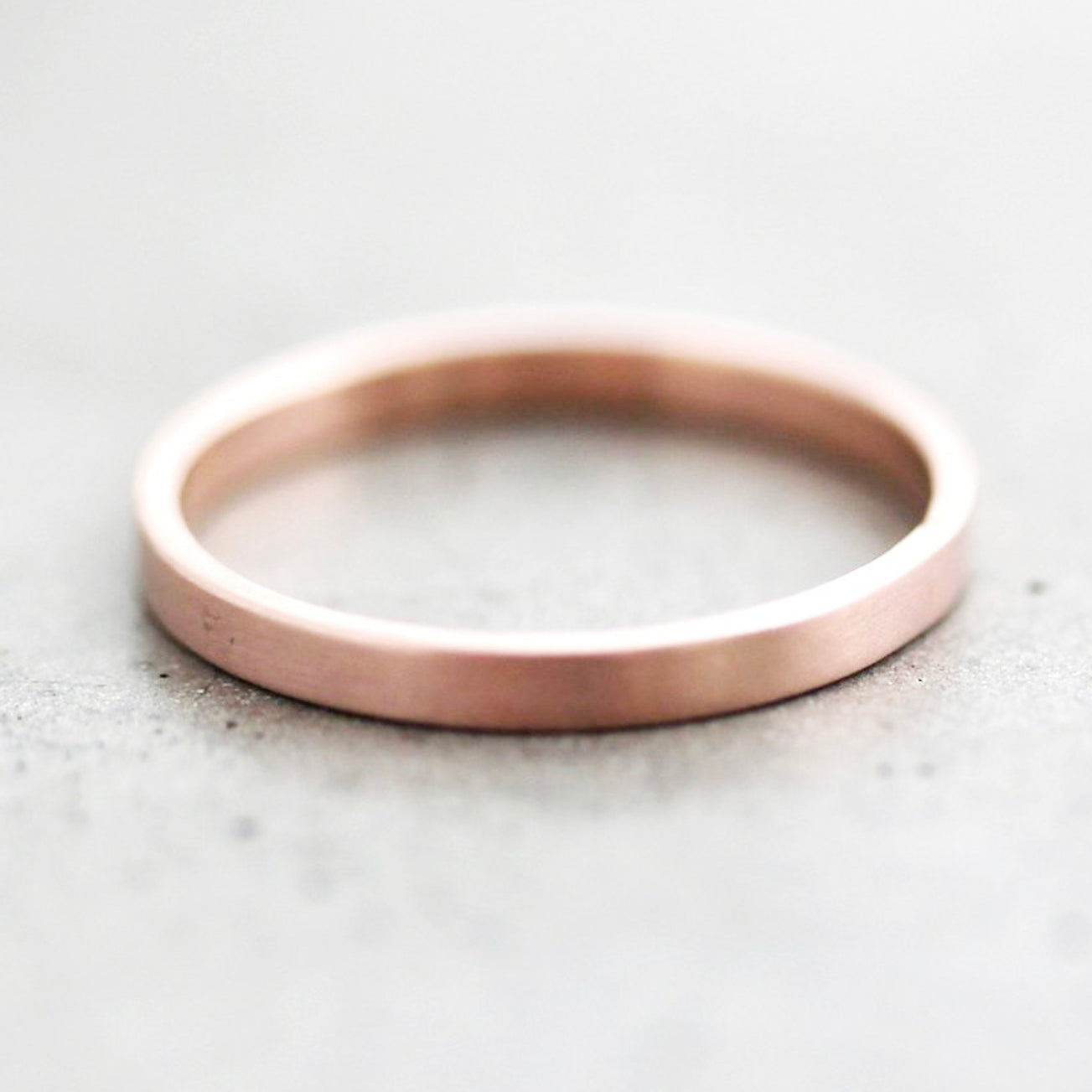 14k Gold Wedding Band 1.5mm 2mm 2.5mm 3mm - Unisex