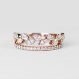 Soren Ring - Leaf diamond engagement / wedding band