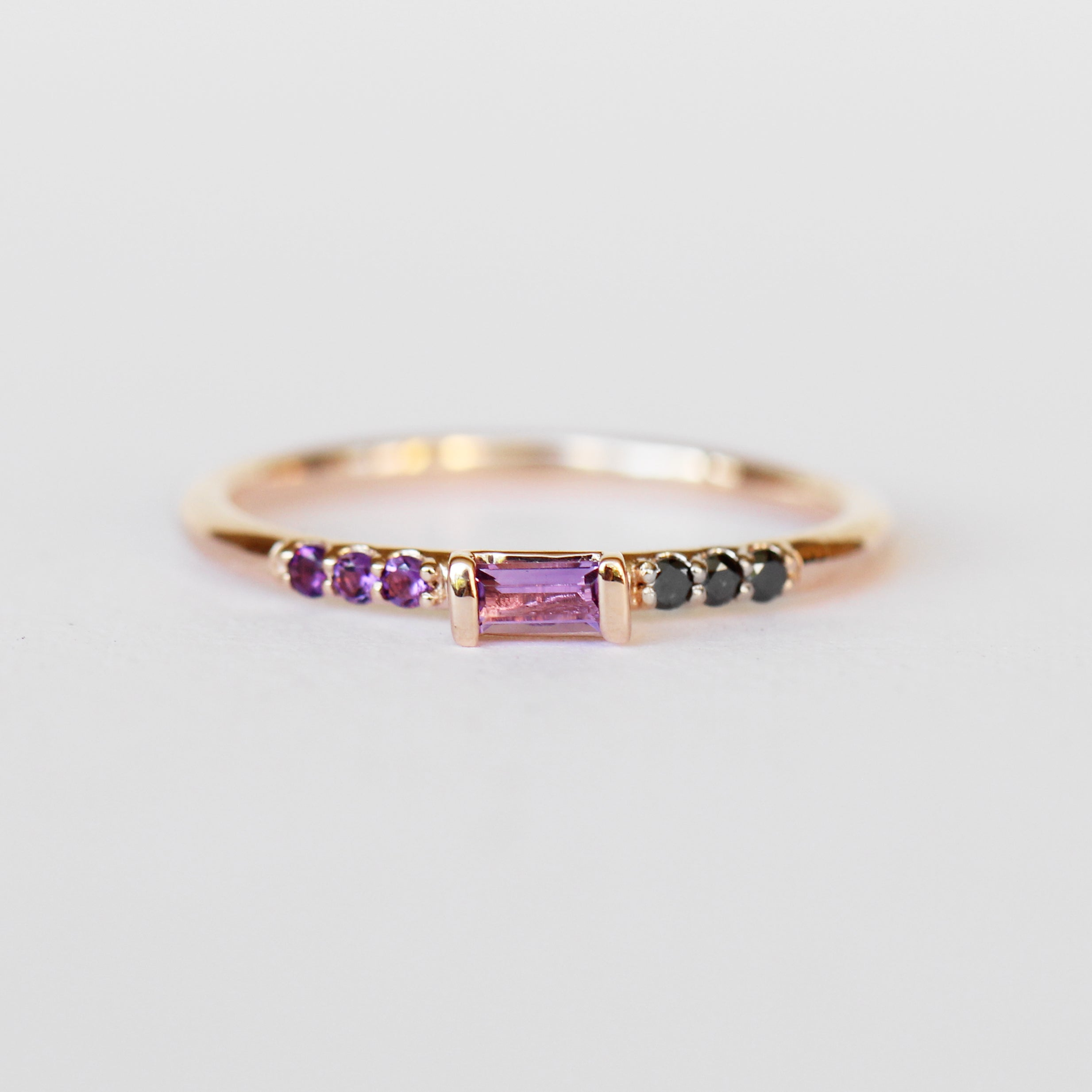Summer Band - Amethyst and Black Diamonds - Celestial Diamonds ® by Midwinter Co.