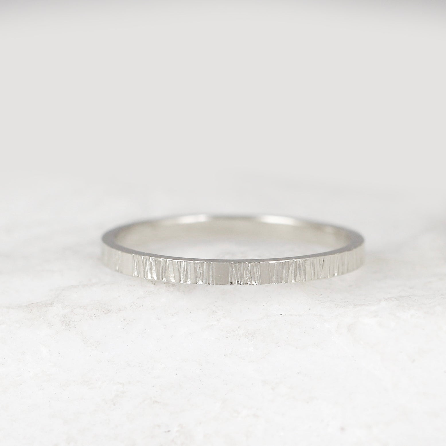 14K White Gold 3mm Lightweight Flat Band Ring