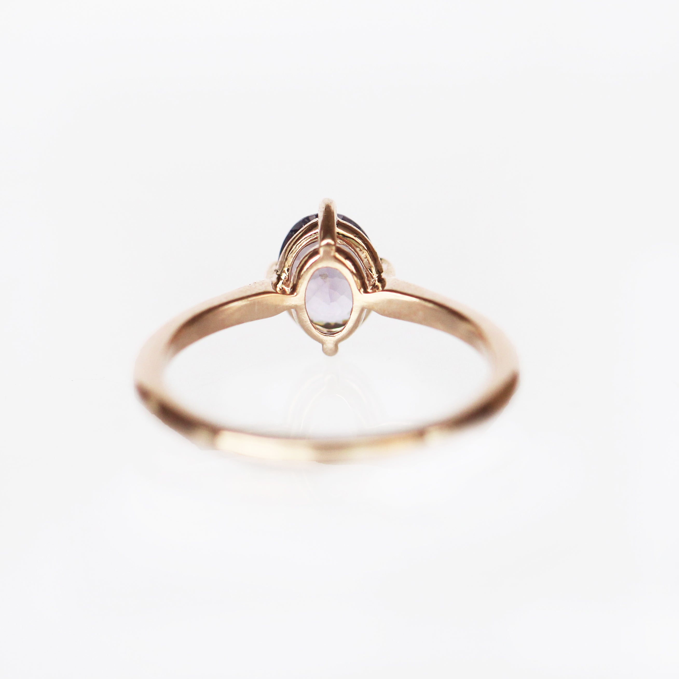 West Ring with a Lavender Sapphire in 10k Rose Gold - Ready to Size and Ship - Celestial Diamonds ® by Midwinter Co.