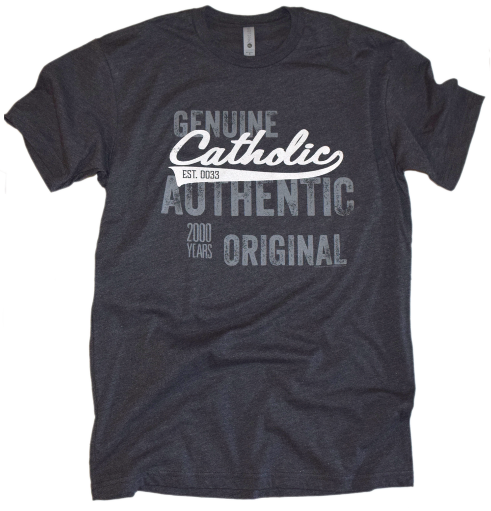 Catholic Swoosh- Genuine, Authentic, Original Premium Tee