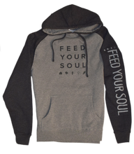 Load image into Gallery viewer, Feed Your Soul Premium Raglan Fleece Hoodie