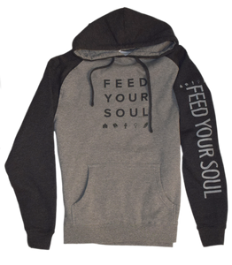 Feed Your Soul Premium Raglan Fleece Hoodie
