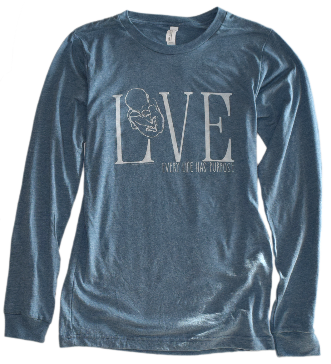 LOVE-Pro Life Tri-Blend Premium Long Sleeve Tee, LIMITED SEASONAL SUPPLY