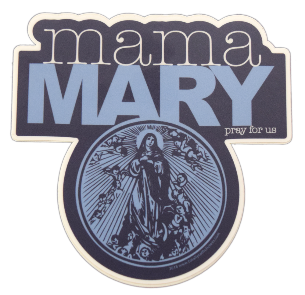 Mama Mary Premium Die-Cut Decal