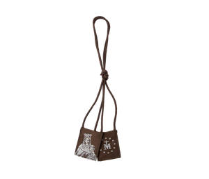 Premium Brown Scapular, Brown & Cream, Our Lady of Mt. Carmel