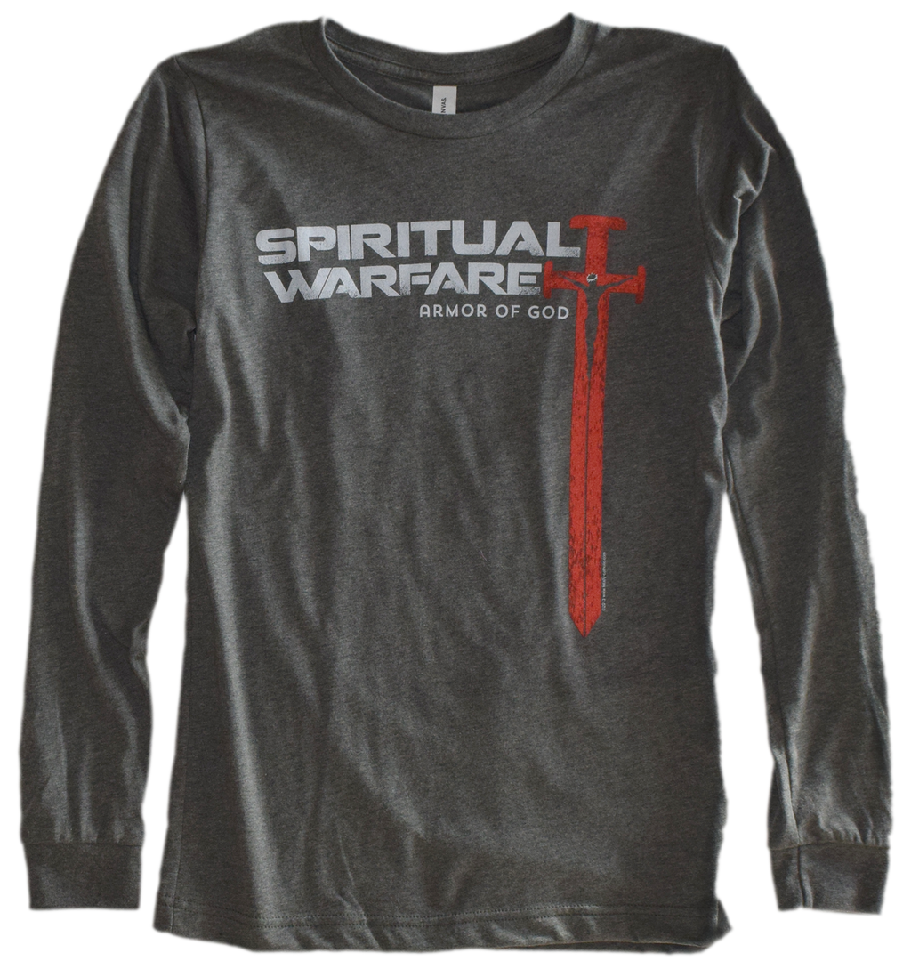 Spiritual Warfare Premium Long Sleeve Tee, LIMITED SEASONAL SUPPLY