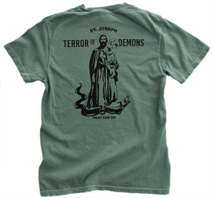 Saint Joseph - Terror of Demons Heavyweight Garment Dyed Tee
