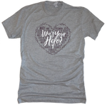 Who's Your Hero? - Heart Premium Youth Tee
