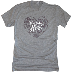 Who's Your Hero? - Heart Premium Tee