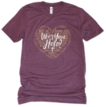 Load image into Gallery viewer, Who's Your Hero? - Heart Premium Youth Tee