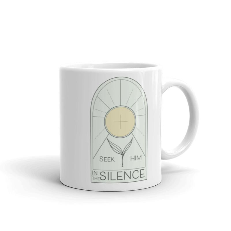 Seek Him in Silence Ceramic Coffee Mug (11oz)