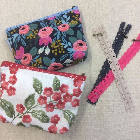 Lace Zip Purse Class Saturday 12 September