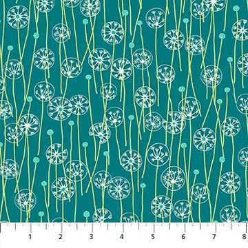 Mountain Meadow Dandelions In Teal