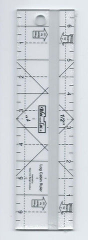 "Bloc Loc Log Cabin Ruler ½ "" and 1"""