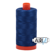 Aurifil Cotton Mako 2780 Dark Delft Blue 50wt