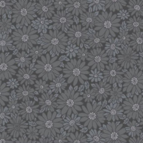 Peaceful Petals Daisies in Charcoal