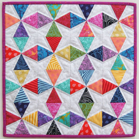 Kaleidoscope Mini Quilt or Cushion